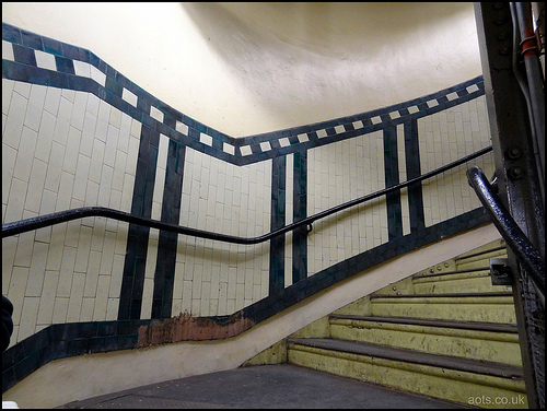 Aldwych station stairs tiling