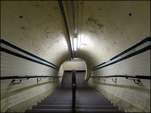 Aldwych station passenger tunnels