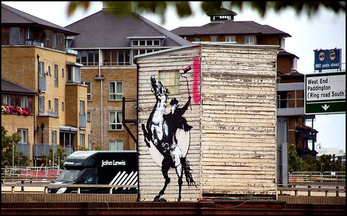 Banksy - Highwayman on the A40 Westway