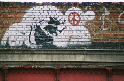 Banksy Rat, Old Street Bridge