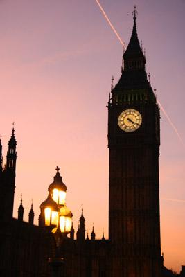 Big Ben Pink Sky
