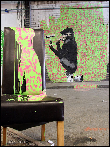 Banksy Roller Chimp