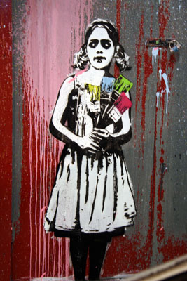 Dolk, 'Girl With Brushes', Cans Festival