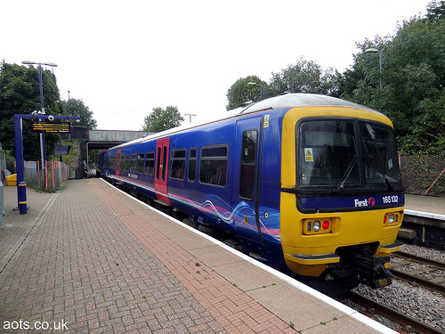 Train at Drayton Green Station