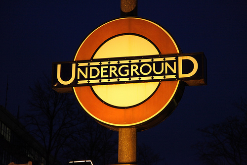 London Underground Roundel sign - Edward Johnston