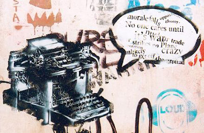 Pablo Fiasco typewriter
