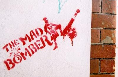The Mad Bomber graffiti stencil photo