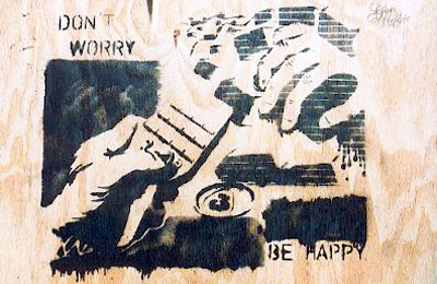 Don't Worry, Be Happy stencil