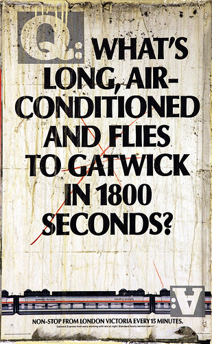 British Rail Poster - Gatwick Express