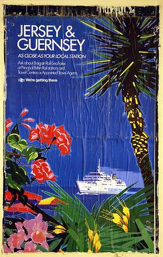 British Rail Poster - Jersey and Guernsey