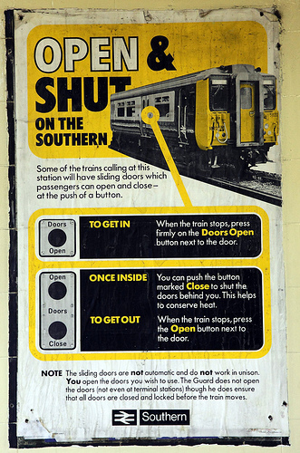 British Rail Poster - Open and shut on the southern