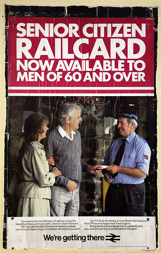 British Rail Poster - Senior Citizen Railcard