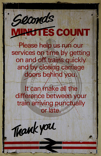 British Rail Poster - Seconds Count