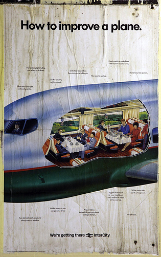 British Rail Poster - How To Improve A Plane