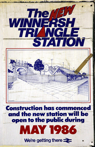 British Rail Poster - Winnersh Triangle Station