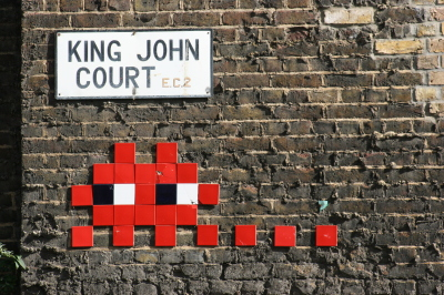 Space Invader St John's Court