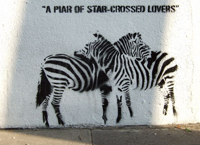 A Pair of Star Crossed Lovers stencil